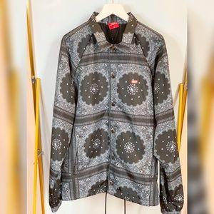 new!!!black bandanna pattern jacktet